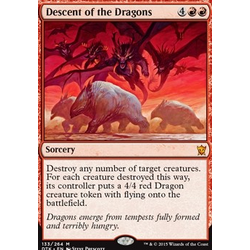 Magic löskort: Dragons of Tarkir: Descent of the Dragons (foil)