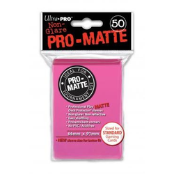 Ultra Pro Deck Protector Sleeves Pro-Matte Bright Pink (50)