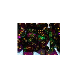 Gemini: Green-Purple/gold (12-die set)