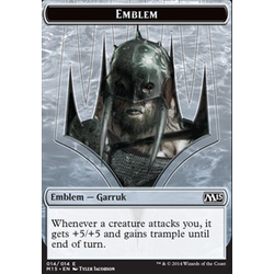 Magic löskort: M15: Emblem Garruk, Apex Predator
