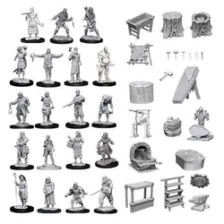 Deep Cuts (unpainted): Townspeople & Accessories