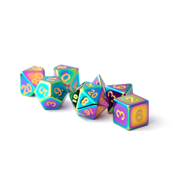 Metallic Dice: Torched Rainbow (Solid Metall)