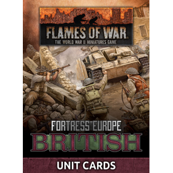 Fortress Europe: British Unit Cards (Late War)