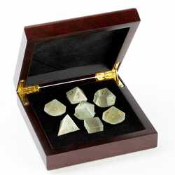 Stone Dice: Cats Eye - White 7-die Set