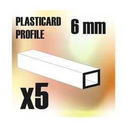 ABS Plasticard - Profile SQUARED TUBE 6mm