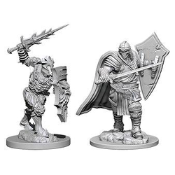Nolzur's Marvelous Miniatures (unpainted): Death Knight & Helmed Horror