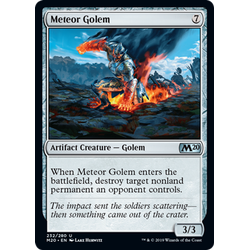 Magic löskort: Core Set 2020: Meteor Golem