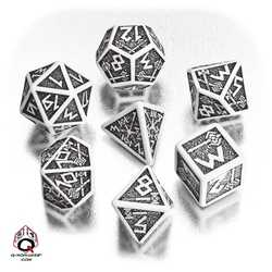 Dwarven Dice Set (White and Black)
