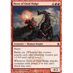 Magic löskort: Mirrodin Besieged: Hero of Oxid Ridge