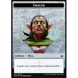 Magic löskort: War of the Spark: Emblem Nissa, Who Shakes the World
