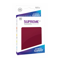 "Card Sleeves Standard ""Supreme UX"" Burgundy 66x91mm (80) (Ultimate Guard)"