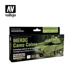 Vallejo Paint Set MERDC Camo Colors