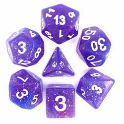 Blue/Purple Galaxy dice set (7-Die set)