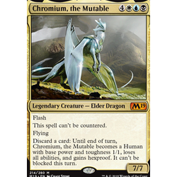 Magic löskort: Core Set 2019: Chromium, the Mutable