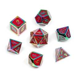 Rainbow Series: Red 7-die set
