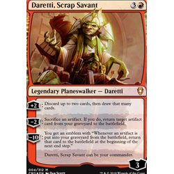 Magic löskort: Commander Anthology 2018: Daretti, Scrap Savant (Foil)