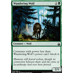 Magic löskort: Battlebond: Wandering Wolf