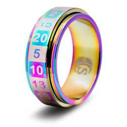 Dice Ring R20 (Size 8, rainbow)