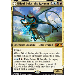 Magic löskort: Core Set 2019: Nicol Bolas, the Ravager