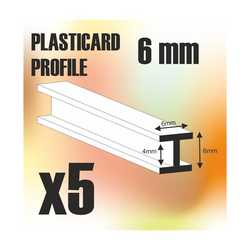 ABS Plasticard - Profile H-Beam Columns 6mm