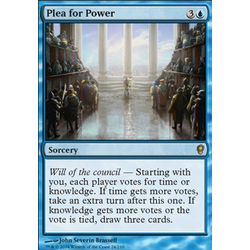 Magic löskort: Conspiracy: Plea for Power