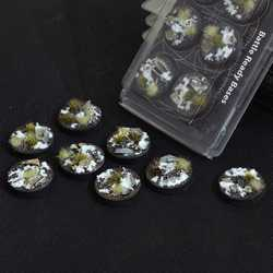 Battle Ready Bases - Winter 32mm Round (8)