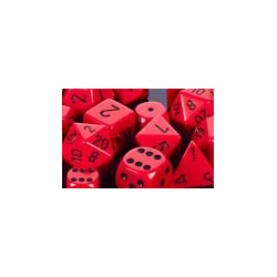 Opaque: Red/black (36-dice set)