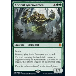 Magic löskort: Zendikar Rising: Ancient Greenwarden