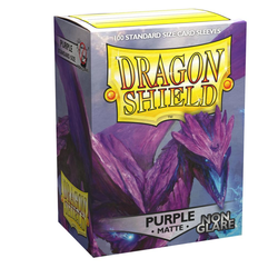 Dragon Shield Sleeves - Standard Non Glare Matte Purple (100 ct. in box)