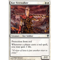 Magic löskort: Worldwake: Kor Firewalker