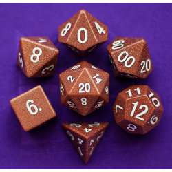 Metallic Dice: Goldstone (7-die set)