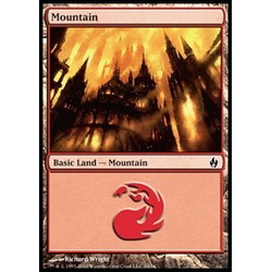 Magic Löskort: Premium Deck - Fire and Lightning: Mountain (Foil)