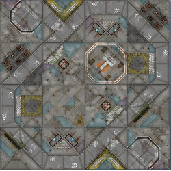 War Game Mat Modular Terminus Segments Communal - 4x4 ~ 122x122cm (Mousepad)