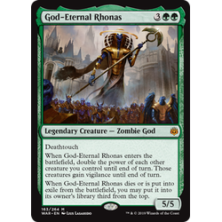 Magic löskort: War of the Spark: God-Eternal Rhonas
