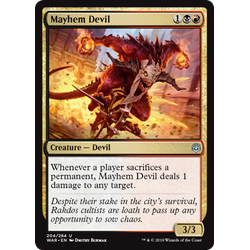 Magic löskort: War of the Spark: Mayhem Devil