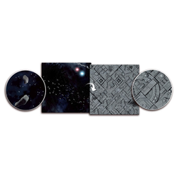 Double sided Gaming Mat Asteroids Field / Space Station 3x3 ~ 90x90cm (Mousepad)