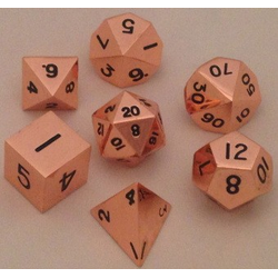 Metallic Dice: Copper (Solid Metall)