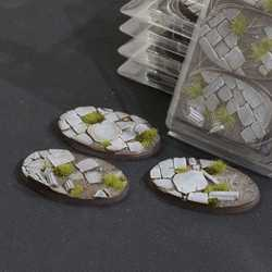 Battle Ready Bases - Temple 75mm Oval (3)