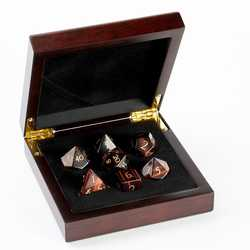 Stone Dice: Red Tiger Eye 7-die Set