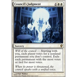 Magic löskort: Conspiracy: Council's Judgment