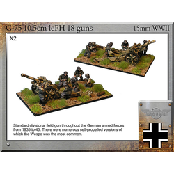 German 10.5cm leFH18 Guns & Crew