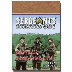 Sergeants Miniature Game: Commonwealth Parachute Sten Leader
