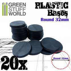 Plastic Bases Round 32mm (20)