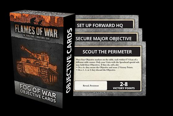 Flames of War Fog Of War Objective Cards FW007O