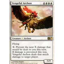 Magic Löskort: Core Set 2011 (M11): Vengeful Archon
