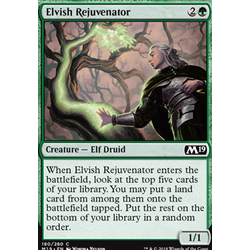 Magic löskort: Core Set 2019: Elvish Rejuvenator