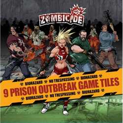 Zombicide: Prison Outbreak Game Tiles (9)