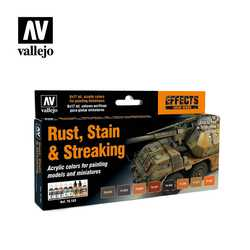 Vallejo Paint Set Rust, Stain & Streaking