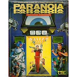 Paranoia: Core Rulebook (2nd ed) (ej komplett)