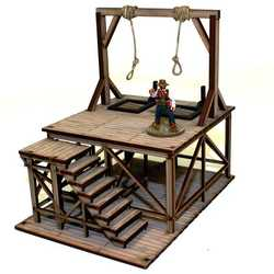 28mm Dead Mans Hand Feature Building: Gallows (Painted)